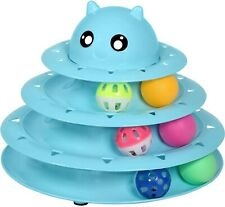 New listing Upsky Cat Toy Roller Cat Toys 3 Level Towers Tracks Roller with Six Colorful Bal
