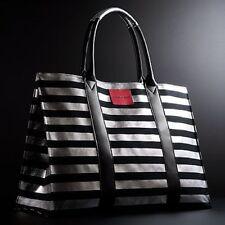 NWT Victoria's Secret Paris Tote Bag Black & Metallic Silver - LIMITED EDITION