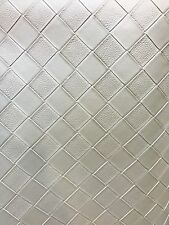 Vinyl Faux Fake Leather Upholstery pearl 1x1 inch Diamond pleather fabric yard