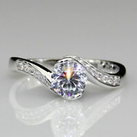 1.50Ct Round-Cut VVS1 Diamond Solitaire Engagement Ring 14k White Gold Finish