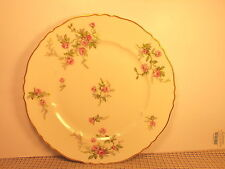 Theodore Haviland China Sylvia White Pink Flowers Pattern Dinner Plate 10 3/8""