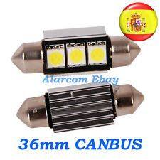 2 x bombillas led 36mm C5W Festoon 5050 Canbus No Error #1001