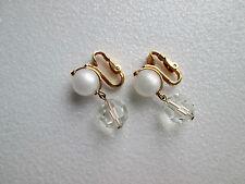 60/70er Vintage Napier Retro hochwertige Ohrclips schön gemacht mit Perlen!