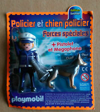 PLAYMOBIL PLAYMO FIGURINE DE MAGAZINE PUBLICITAIRE LE POLICIER ET SON CHIEN