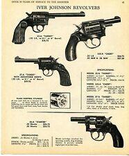 1969 Print Ad of Iver Johnson 55A 57A Target 55SA Cadet & 56A Starter Revolver