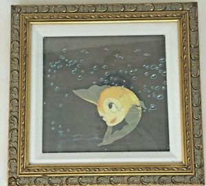 Rare Disney Pinocchio Animation Celluloid of Cleo the Goldfish