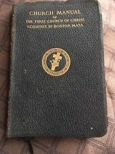 Antique Church Manual Of The First  Church Of Christ  Scientist  1895 / 1916