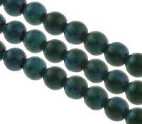 45 Schmucksteine Achat Perlen Azurite Grün 8mm Natur Edelsteine A Grade G803#3