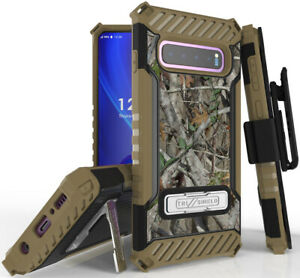 Autumn Camo Tree Real Woods Case Cover Belt Clip Holster for Samsung Galaxy S10