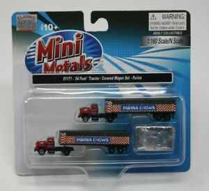 Classic Metal Works 51171 1954 Ford Tractor Covered Wagon Set Purina N scale NEW