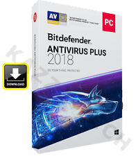 BITDEFENDER ANTIVIRUS PLUS 2018 - 3 PC USER 1 YEAR - Activation License Key 2019