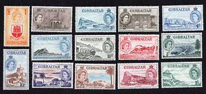 Gibraltar 1953 Set of Stamps  MI#134-147 MH CV=200€