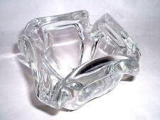 1,5kg Glas Schale signiert Kristaluxus / Mexico  um 1970