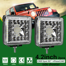 2x 4.2inch 728W Cree Led Work Light Bar Combo Offroad Atv Suv 4Wd Truck Pk 4 5 7