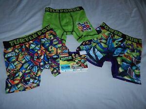 Teenage Mutant Ninja Turtles Figure Boxer Briefs Movie Underwear NEW Boys XS-L