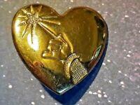 Disney Arm & Wand Gold Heart Shaped Pin Variety Club