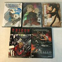Lof of 5 Brand New Anime DVDs- Kurau Vol 2 Last Exile Gun Sword Trigun Appleseed