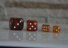 Handmade Baltic amber play game dice large
