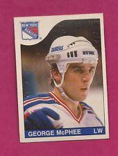 1985-86 OPC # 252 RANGERS  GEORGE MCPHEE  ROOKIE EX-MT CARD (INV#3112)