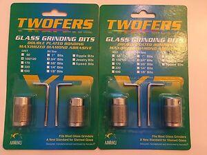 """2 sets - 3/4"""" Aanraku Twofers 2 bit set Stained Glass Grinder Bits - Twofers Bit"""