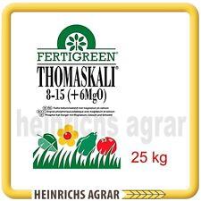 Thomaskali 25 kg 8 P2O + 15 K2O +6 MgO, PK Herbstdünger Grunddünger