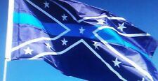 Blue Line Rebel Flag