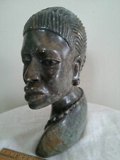 "6.5"" Soap stone carving sculpture of a native woman"