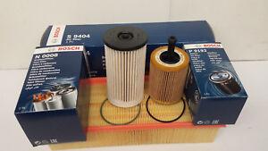 VW Passat  2.0 TDi Bosch Oil Air Fuel Filter Sump Plug Service Kit 2005-10