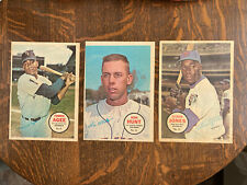 1967 TOPPS BASEBALL POSTERS LOT X 3 RON HUNT,TOMMIE AGEE, CLEON JONES NY METS
