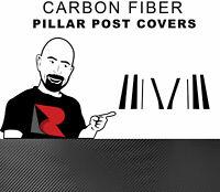 Rtrim Black 3D Carbon Fiber Pillar Post Trim Cover for Buick Enclave 2008-2