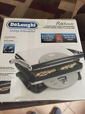 DeLonghi Retro Style Panini Contact Grill with Adjustable Height Locking System