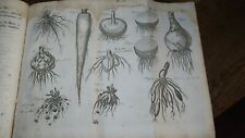 1765 GARDENERS KALENDAR BY MILLER 6 FOLD-OUT PLATES HORTICULTURE BOTANY *