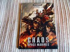 Warhammer 40K Chaos Space Marine Hardback Codex Rulebook Book Gaming