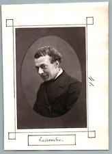 France, Paris, Théâtre, Lassouche  Vintage print. Louis-Ange, baron Bouquin de L