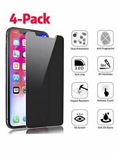 4Pack Privacy Anti-Spy Tempered Glass Screen Protector iPhone X XS XR 11 Pro Max