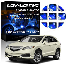 Luxury Blue Light SMD Car Interior LED Package 12pcs Kit for Acura RDX 2013-2014