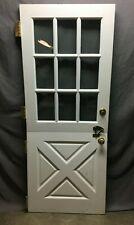 Vtg Solid Wood Dutch Door 9 Lite 32x79 Shabby Cottage Entryway Old 1361-20B