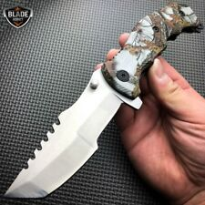 "9"" Razor Tactical SNOW CAMO Tracker Spring Assisted Open Folding Pocket Knife"