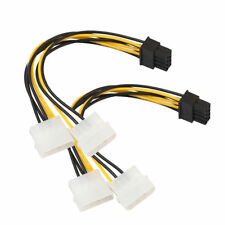 Dual Molex 4 pin to 8 pin PCI-E Express converter adapter power cable Video Card