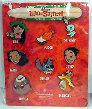 New, Rare Disney Pin - Disney Catalog - Lilo & Stitch Card Set of 8 pins 25604