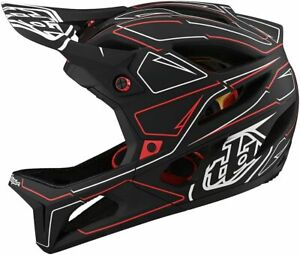 Troy Lee Designs Stage Bicycle Helmet w/ MIPS Black/Red X-Small/Small 115317001