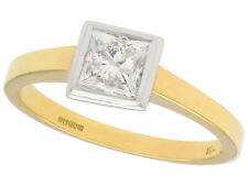 1.10Ct Diamond & 18k Yellow Gold 18k White Gold Set Solitaire Engagement Ring