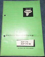 Welger Aufsammelpresse AP71 / AP71 D Betriebsanleitung