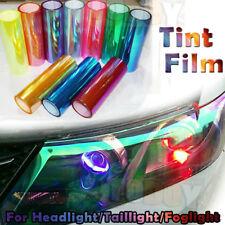 "12""x48"" Chameleon Neo Orange Tint Vinyl Film Car Headlight Taillight Fog Light"