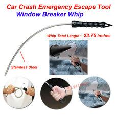 Hardened Steel Window Breaker for Car Crash Emergency Escape Tool -stinger Whip