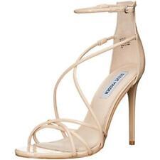 Steve Madden Womens Satire Beige Dress Sandals Shoes 9.5 Medium (B,M) BHFO 3267