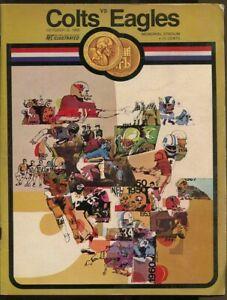 1969 Philadelphia Eagles @ Baltimore Colts Program 10/12 Johnny Unitas 250 YDs
