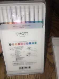 UNI EMOTT Fineliner Pen Set #2, 10-Colors New