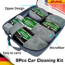 Auto Pflege Reinigungsset   Mikrofaser Tücher Schwamm Felgen Bürste    Wasch Set