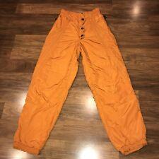 Vtg 80s 90s Orange ELLESSE Womens SMALL Snow snowboard bib Gaper Apres SKI pants